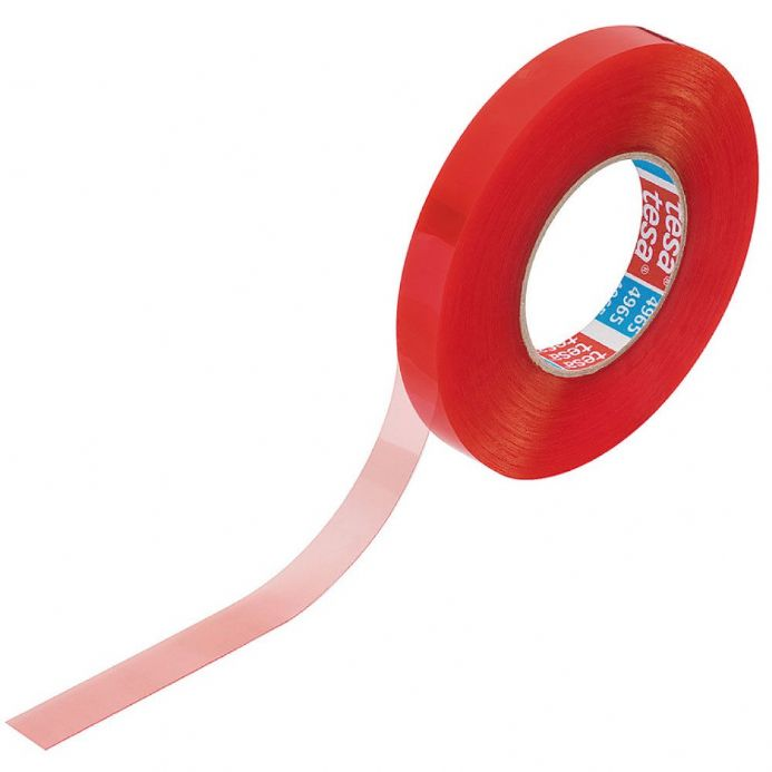 6mm Double-Sided Self-Adhesive Red Tesa Tape    50mtr roll